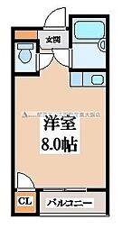 バーブルパークマンション[2階]の間取り