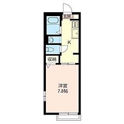 アクア下新宿[1階]の間取り