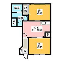 グレイスフルB[1階]の間取り
