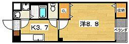 セレーサ 2階1Kの間取り