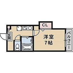 ラビスタ暁[0104号室]の間取り
