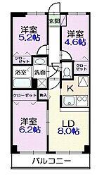 東京都江戸川区南小岩2丁目の賃貸マンションの間取り