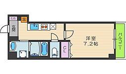 ルミエール駒川[505号室]の間取り