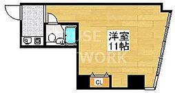 京都府京都市下京区五条通油小路西入ル北側小泉町の賃貸マンションの間取り