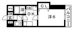 ノウムローザ[6階]の間取り