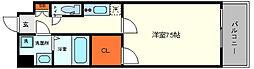 セレーノ大阪ウエストベイ 2階1Kの間取り