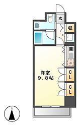 エクセレンス桜山[4階]の間取り