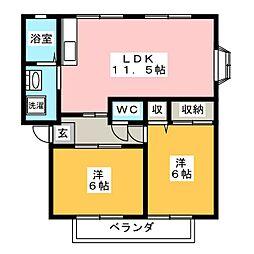 サンビレッジ静岡[1階]の間取り