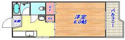 六甲澤山ヴィラ北棟[208号室]の間取り