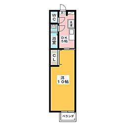 プルミエール地中海[2階]の間取り