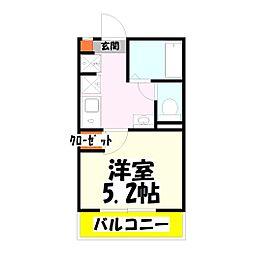 ポルト・ボヌール竹ノ塚[2階]の間取り