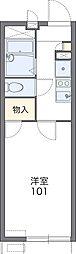 大阪モノレール本線 大日駅 徒歩12分の賃貸アパート 1階1Kの間取り