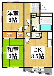エフハイム3[3階]の間取り