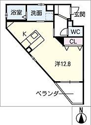 仮)幸田駅西マンション 3階ワンルームの間取り