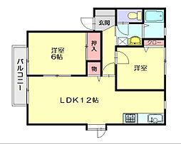 メゾンKT[2階]の間取り