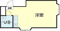 カーサ香呂 2階ワンルームの間取り
