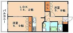 フローラルコート[2階]の間取り