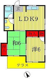 サンハウス(小金原)[1階]の間取り