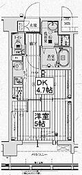 アクアプレイス京都西院[4階]の間取り