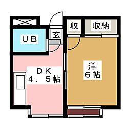 第5銅谷ビル[7階]の間取り
