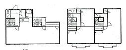 [テラスハウス] 神奈川県海老名市大谷南2丁目 の賃貸【/】の間取り