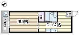 ハイツ松本[302号室]の間取り