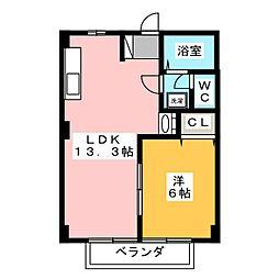 フローラA[2階]の間取り