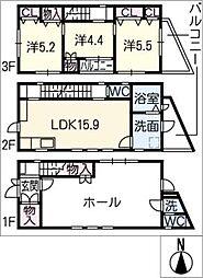 [一戸建] 愛知県名古屋市西区堀越2丁目 の賃貸【/】の間取り