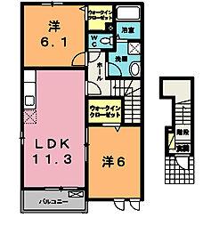 サンライズガーデンII[2階]の間取り