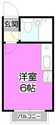 ベルピア上福岡第3[1階]の間取り