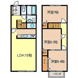 [テラスハウス] 愛知県半田市宮本町4丁目 の賃貸【/】の間取り