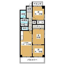 TWINS白壁S棟[5階]の間取り