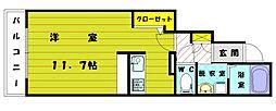 福岡県古賀市今の庄3丁目の賃貸アパートの間取り