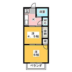 サンティーエ村松[1階]の間取り