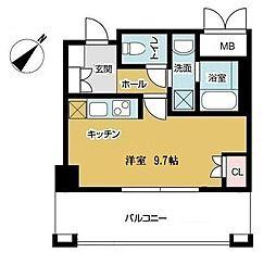 パークナードフィット吹田健都 7階1Kの間取り