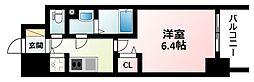 Osaka Metro御堂筋線 東三国駅 徒歩9分の賃貸マンション 10階1Kの間取り