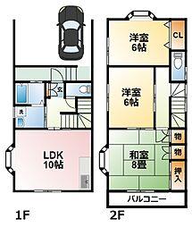 [テラスハウス] 千葉県茂原市中部 の賃貸【/】の間取り