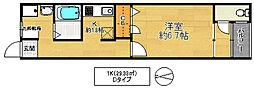 稲田大発マンション[3階]の間取り