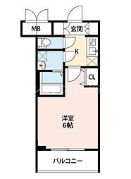 S-RESIDENCE新大阪Garden 10階1Kの間取り