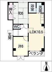 コーポ大器II[3階]の間取り