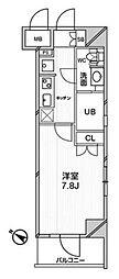 エルスタンザ文京千駄木 10階1Kの間取り