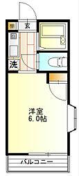 神奈川県秦野市本町2丁目の賃貸アパートの間取り