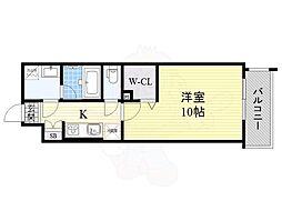 N residence SUMIYOSHI 1階1Kの間取り