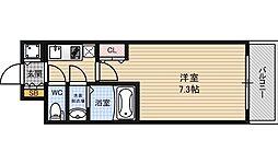 サムティ江戸堀ASUNT[4階]の間取り