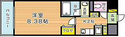 福岡県北九州市小倉北区魚町2丁目の賃貸マンションの間取り