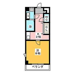 ニューメゾン森安[4階]の間取り