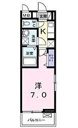 JR高徳線 栗林公園北口駅 徒歩15分の賃貸アパート 2階1Kの間取り