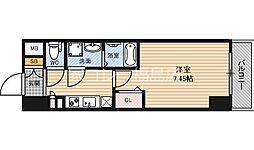 JR大阪環状線 福島駅 徒歩7分の賃貸マンション 4階1Kの間取り