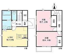 東急池上線 戸越銀座駅 徒歩1分の賃貸一戸建て 1階2LDKの間取り