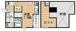 ポラリス武庫川1[2階]の間取り